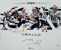 Tom Brady Signed Patriots 16x20 Photo (Fanatics Hologram) at PristineAuction.com