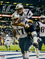 Tom Brady & Rob Gronkowski Signed Patriots 16x20 Photo (Fanatics Hologram) at PristineAuction.com