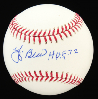 "Yogi Berra Signed OML Baseball Inscribed ""H.O.F. 72"" (JSA COA) at PristineAuction.com"