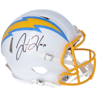 Justin Herbert Signed Chargers Authentic On Field Full-Size Speed Helmet (Fanatics Hologram) at PristineAuction.com