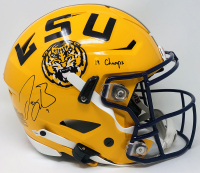 "Joe Burrow Signed LSU Tigers Authentic On-Field Full-Size Speedflex Helmet Inscribed ""19 Champs"" (Fanatics Hologram) at PristineAuction.com"