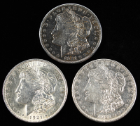 Lot of (3) Morgan Silver Dollar Coins With 1921, 1921 (D) & 1921 (S) at PristineAuction.com