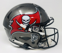 "Tom Brady Signed Buccaneers Full-Size Authentic On-Field SpeedFlex Helmet Inscribed ""Fire The Cannons"" (Fanatics Hologram) at PristineAuction.com"