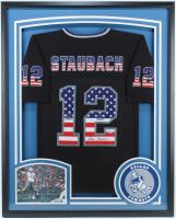 Roger Staubach Signed  35x43 Custom Framed Jersey (Beckett COA) at PristineAuction.com