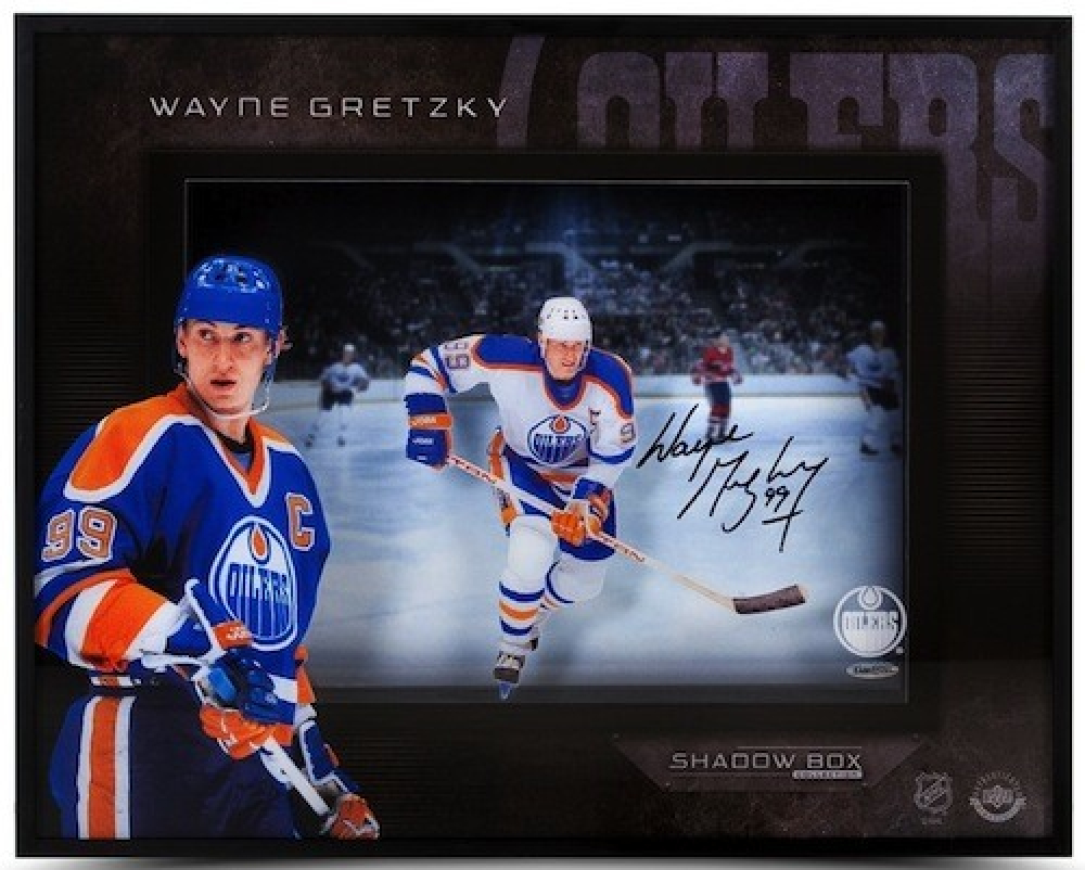 Wayne Gretzky Signed Oilers 16x20x2 Custom Framed Photo Shadowbox Display (Upper Deck Hologram) at PristineAuction.com