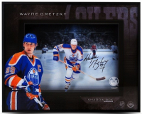 Wayne Gretzky Signed Oilers 16x20x2 Custom Framed Photo Shadowbox Display (Upper Deck Hologram) at PristineAuction.com