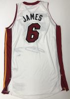 LeBron James Signed Heat 2013 NBA Champion Patch Jersey (UDA COA) at PristineAuction.com