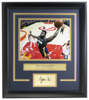 Zion Williamson Pelicans 14x18 Custom Framed Photo Display at PristineAuction.com