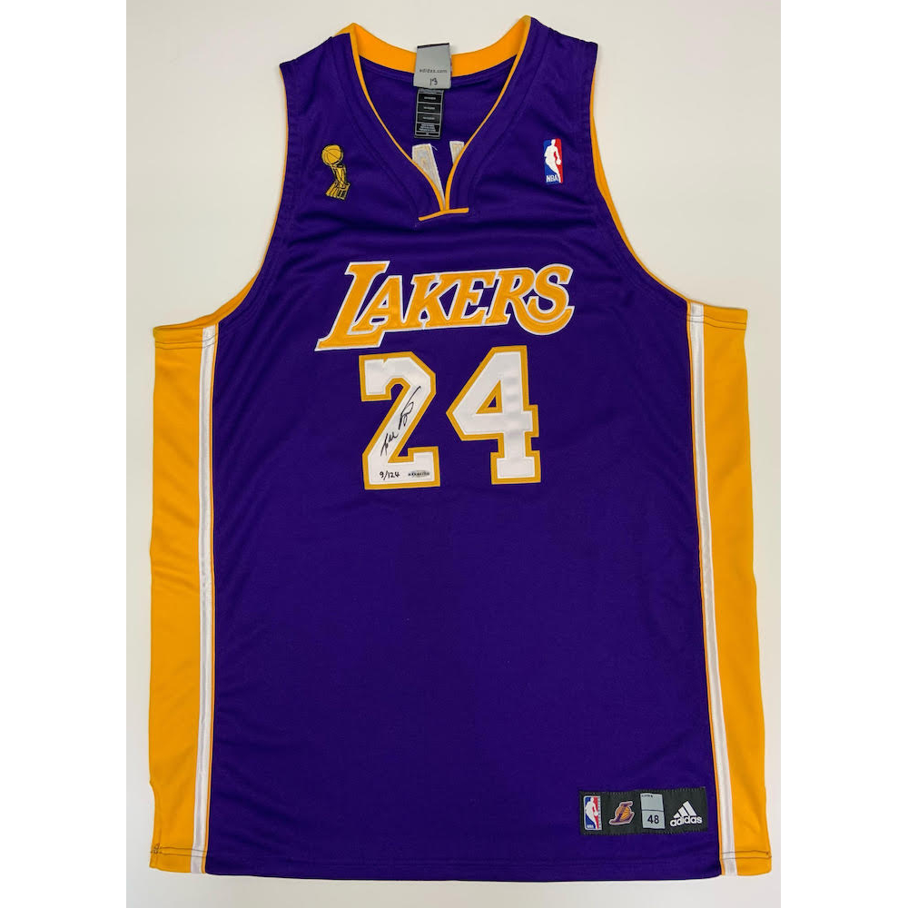Kobe Bryant Signed Lakers 2009 NBA Finals Patch LE Jersey (UDA COA ...