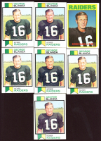 Lot of (7) George Blanda Football Cards With (6) 1973 Topps #25 & (1) 1972 Topps #235 at PristineAuction.com