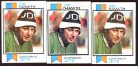 Lot of (3) Joe Namath 1973 Topps #400 Football Cards at PristineAuction.com