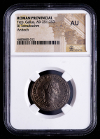 Treb.Gallus (AD 521-253) Ancient Roman Provincial - AR Silver BI Tetradrachm (NGC About Uncirculated) at PristineAuction.com