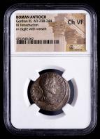 Gordian III (AD 238-244) Ancient Roman Antioch - AR Silver BI Tetradrachm (NGC Choice Very Fine) at PristineAuction.com