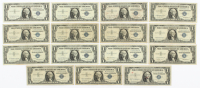 Lot of (15) 1957 $1 One-Dollar U.S. Silver Certificates at PristineAuction.com