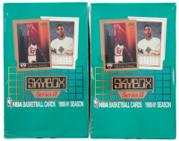 Lot of (2) 1990/91 Skybox Series 2 Basketball Pack of (36) at PristineAuction.com