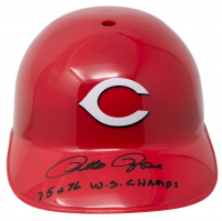 """Pete Rose Signed Reds Full-Size Batting Helmet Inscribed """"75 & 76 W.S. Champs"""" (Beckett COA) at PristineAuction.com"""