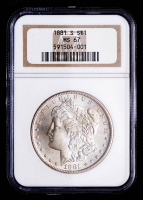 1881-S Morgan Silver Dollar (NGC MS67) (Toned) at PristineAuction.com