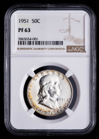 1951 Franklin Silver Half Dollar (NGC PF63) (Toned) at PristineAuction.com