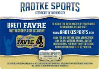 """Brett Favre Signed NFL """"The Duke"""" Football With Multiple Inscriptions (Radtke Favre COA) at PristineAuction.com"""