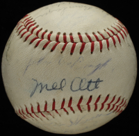1952 Oakland Oaks Baseball Team-Signed by (26) with Mel Ott, George Bamberger, Lloyd Hittle, Bill Evans, John Ostrowski (JSA ALOA) at PristineAuction.com