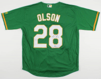 Matt Olson Signed Athletics Jersey (Beckett COA) at PristineAuction.com