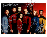 """Star Trek: The Next Generation"" 8x10 Photo Cast-Signed by (7) with Michael Dorn, LeVar Burton, Wil Wheaton, Brent Spiner (JSA ALOA) at PristineAuction.com"