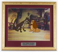 "Walt Disney's LE ""Lady and the Tramp"" 14.5x16.5 Custom Framed Two-Piece Animation Serigraph Display at PristineAuction.com"