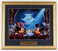 "Thomas Kinkade ""Mickey & Minnie at the Movies"" 13.5x15.5 Custom Framed Print Display at PristineAuction.com"