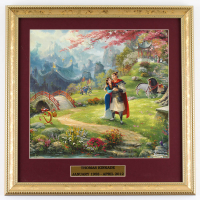 "Thomas Kinkade ""Mulan"" 15.5x15.5 Custom Framed Print Display at PristineAuction.com"