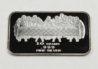 """10 Grams .999 Silver """"The Last Supper"""" Bullion Bar at PristineAuction.com"""