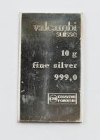 "10 Grams .999 Silver ""Valcambi Sussue"" Bullion Bar at PristineAuction.com"