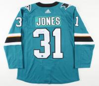 Martin Jones Signed Sharks Jersey (AJ's Sports World COA) at PristineAuction.com