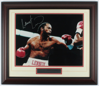 Lennox Lewis Signed 24.5x28.5 Custom Framed Photo Display (JSA COA) at PristineAuction.com