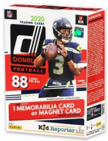 2020 Donruss Football Blaster Box Red Target Exclusive with (11) Packs at PristineAuction.com