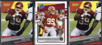 Lot of (3) Chase Young Football Rookie Cards with (2) 2020 Panini Instant #16 RC and 2020 Donruss Rated Rookie #316 RC at PristineAuction.com
