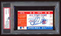 Nolan Ryan Signed 1976 MLB All-Star Game Ticket (PSA Encapsulated) at PristineAuction.com