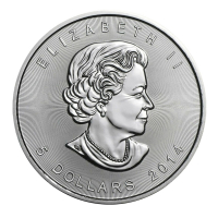 2014 $5 Canadian Maple Leaf 1 oz .999 Fine Silver Coin at PristineAuction.com