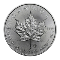 2015 $5 Canadian Maple Leaf 1 oz .999 Fine Silver Coin at PristineAuction.com