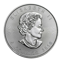 2016 $5 Canadian Maple Leaf 1 oz .999 Fine Silver Coin at PristineAuction.com