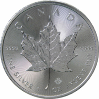 2017 $5 Canadian Maple Leaf 1 oz .999 Fine Silver Coin at PristineAuction.com