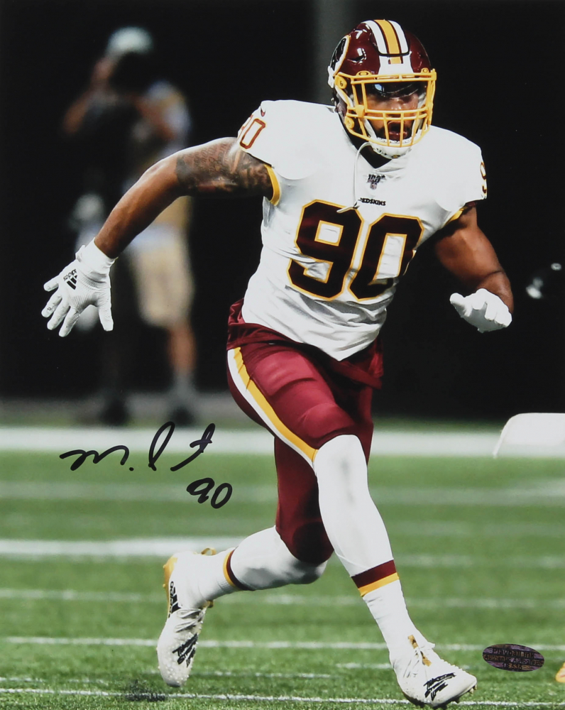 Montez Sweat Signed Redskins 8x10 Photo (Playball Ink Hologram) at PristineAuction.com