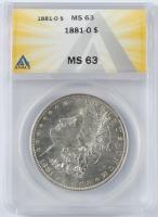 1881-O $1 Morgan Silver Dollar (ANACS MS63) at PristineAuction.com