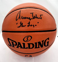 "Jerry West Signed NBA Game Ball Series Basketball Inscribed ""The Logo"" (Beckett COA) at PristineAuction.com"