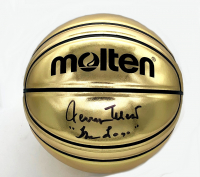 "Jerry West Signed Gold Basketball Inscribed ""The Logo"" (Beckett COA) at PristineAuction.com"