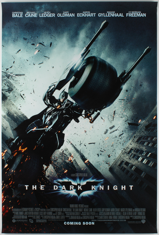"""""""The Dark Knight"""" 27x40 Movie Teaser Poster at PristineAuction.com"""