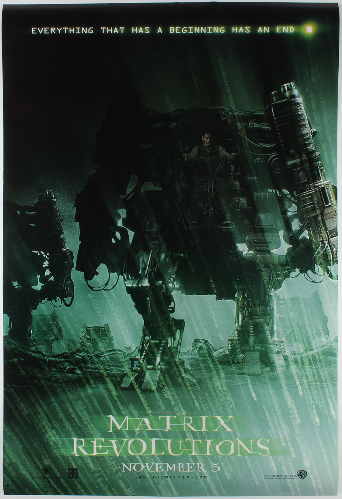 """Matrix Revolutions"" 27x40 Teaser Movie Poster at PristineAuction.com"