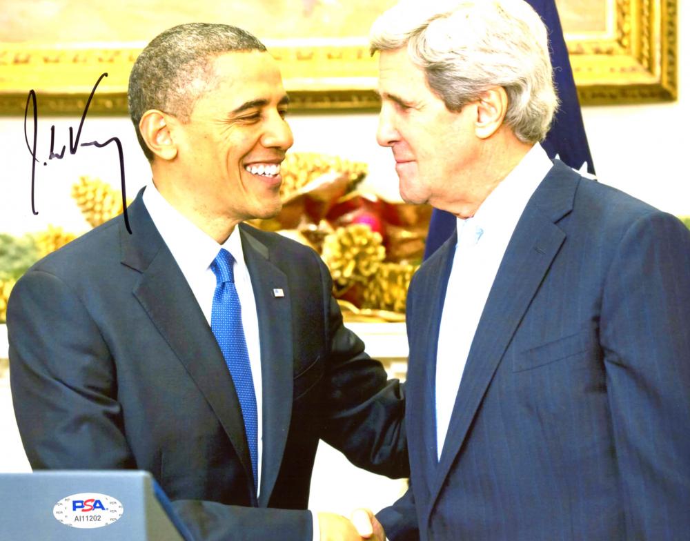 John Kerry Signed 8x10 Photo (PSA Hologram) at PristineAuction.com