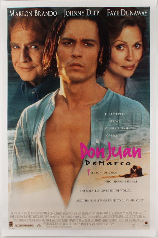"""""""Don Juan DeMarco"""" 27x40 Movie Poster at PristineAuction.com"""