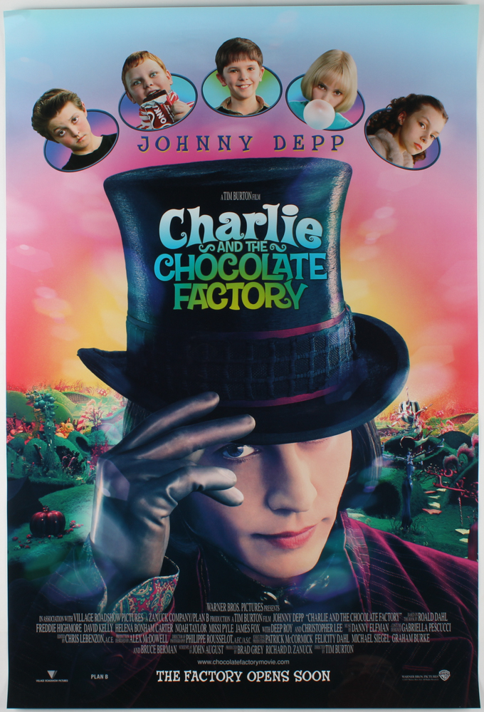 """Charlie and the Chocolate Factory"" 27x40 Movie Poster at PristineAuction.com"