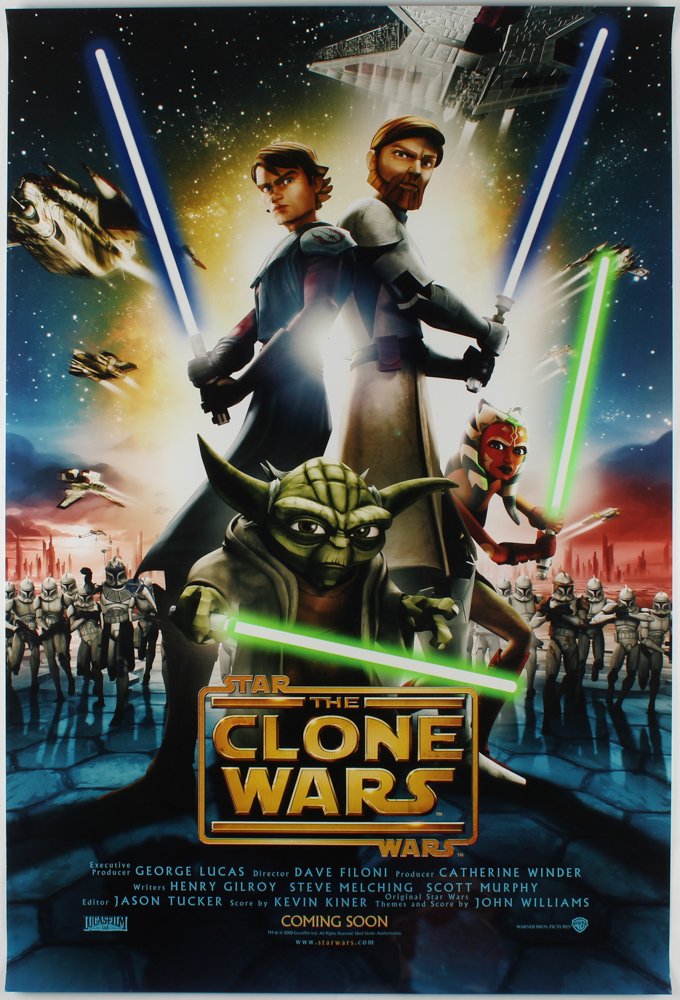 """Star Wars: The Clone Wars"" 27x40 Teaser Movie Poster at PristineAuction.com"